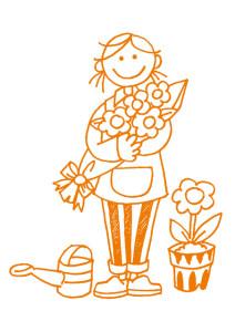 女の子の花屋さん