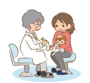 赤ちゃんの注射