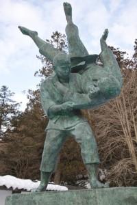 西郷四郎の像