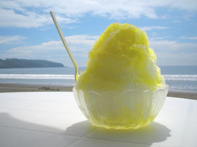 レモンのかき氷