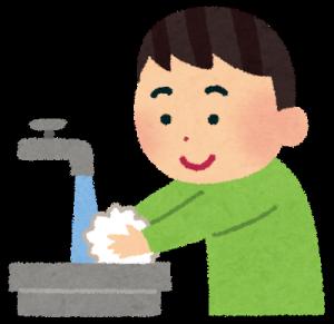 手を洗う男の子