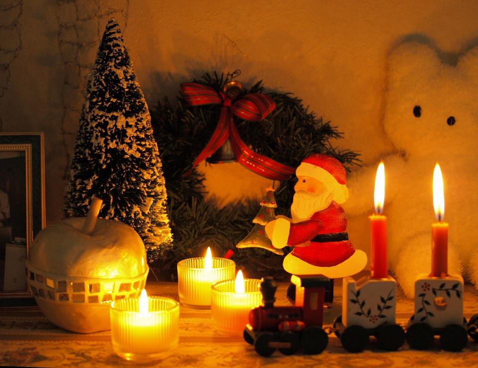 クリスマスの子供部屋